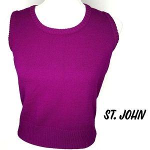 ST. John Santana Knit Shell Sleeveless Tank Top